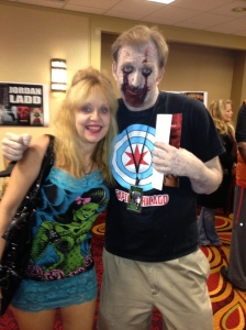 Even when sad clown bloodied, legendary Linnea gives one joy!