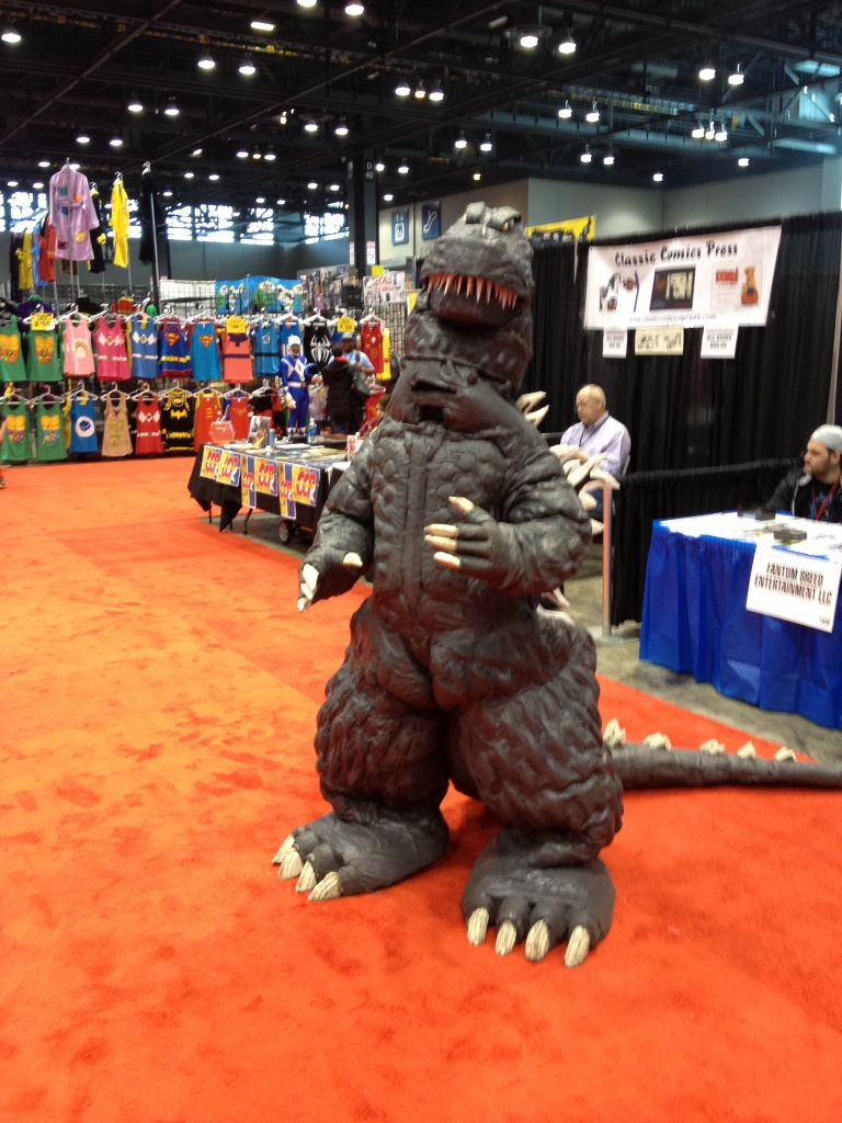 Wherever he goes, Godzilla rules! Even on the C2E2 floor!