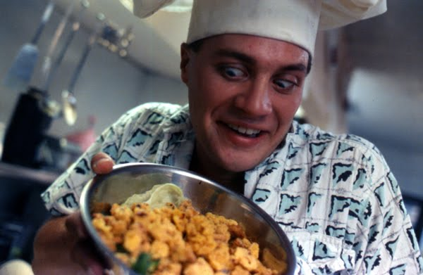 """Delightfully zany Carl Crew as George in """"Blood Diner"""""""