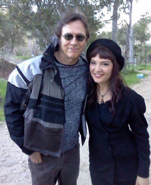 Stevens with Assassin co-star Richard Hatch!