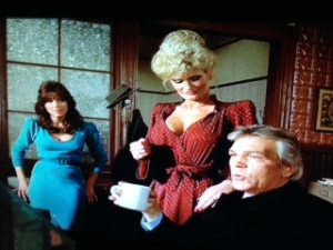 With Brooks and Tanya Roberts in Murder