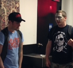 Clark & Pata chatting