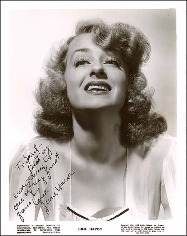 June Havoc signed