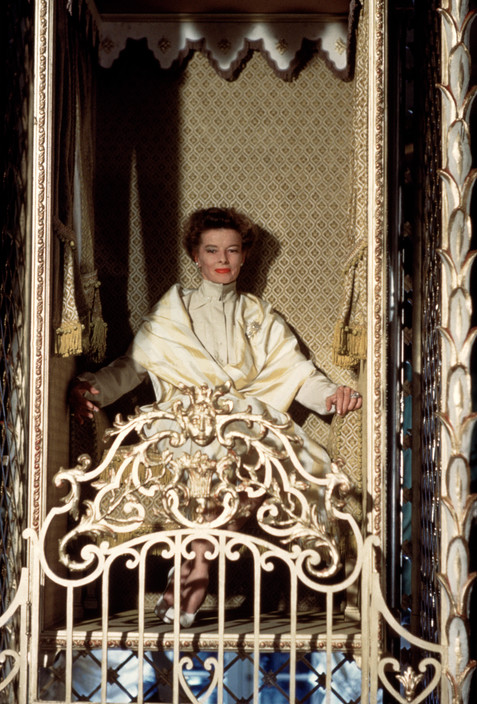 "1959. Katharine HEPBURN during the filming of ""Suddenly Last Summer."""