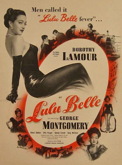 Dorothy La Mour Lulu Belle poster