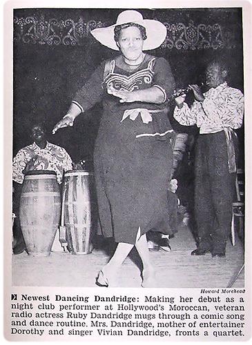 Ruby Dandridge performing